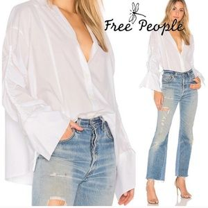 Free People | Brown Eyed Girl Poplin Blouse